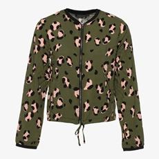 Jazlyn dames leopard bomber