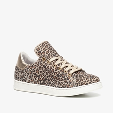 Groot leren meisjes leopard sneakers