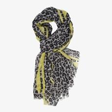 Dames sjaal met leopard print