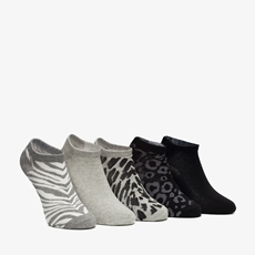 5 paar dames leopard sneakersokken