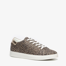 TwoDay leren dames leopard sneakers