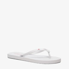 Witte dames teenslippers