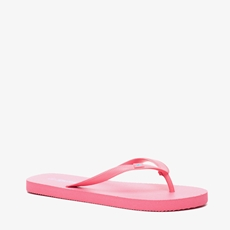 Roze dames teenslippers
