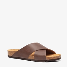 TwoDay leren heren slippers