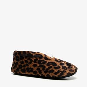 Thu!s dames spaanse sloffen met luipaardprint