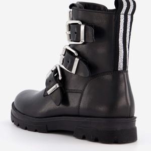 Groot leren meisjes biker boots