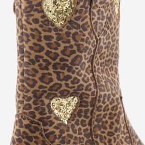 Groot meisjes enkellaarzen met luipaardprint