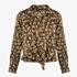 Geknoopte dames blouse bloemenprint