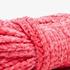Gebreide meisjes sjaal roze 2