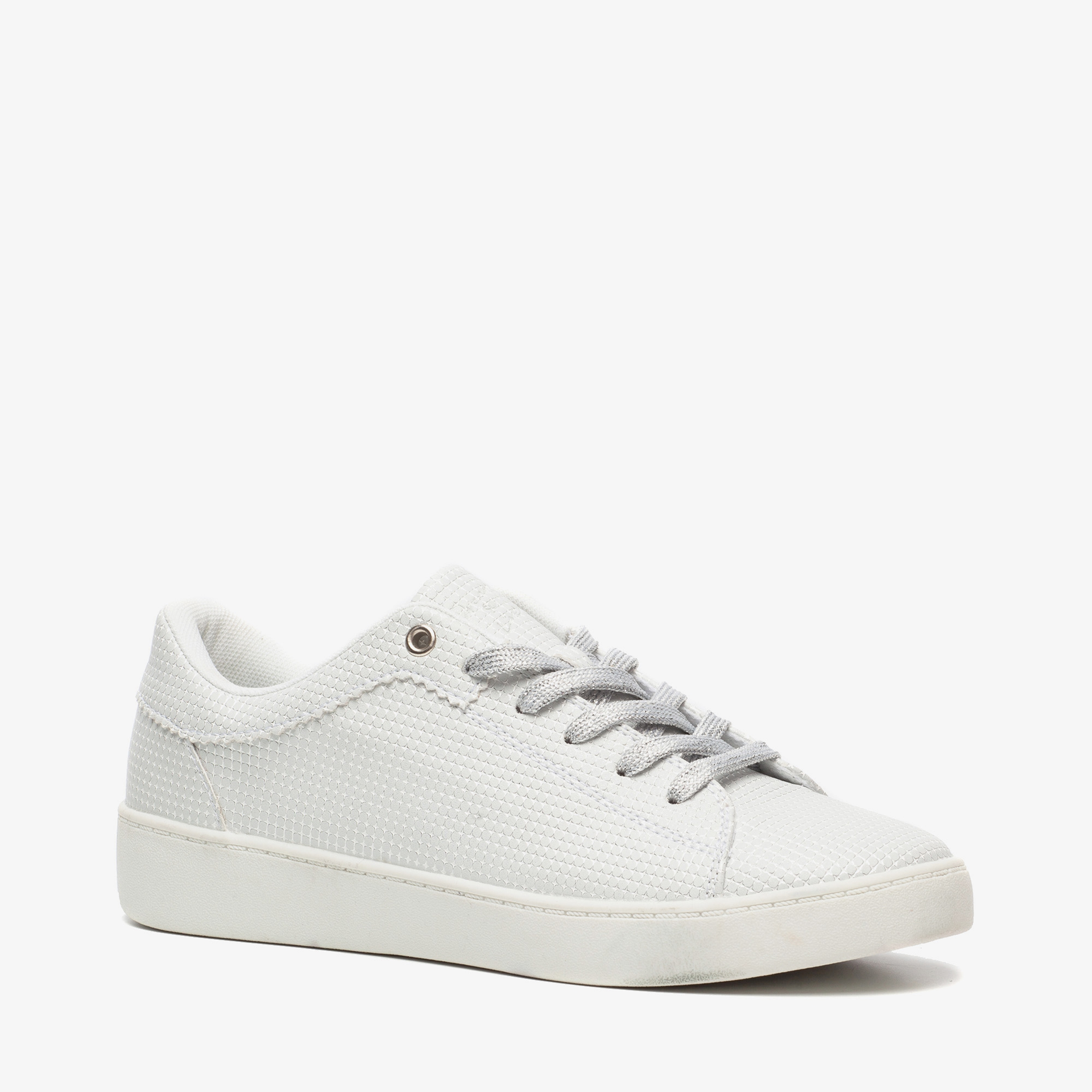 Blue Box dames sneakers met bloemenprint Wit Maat 39