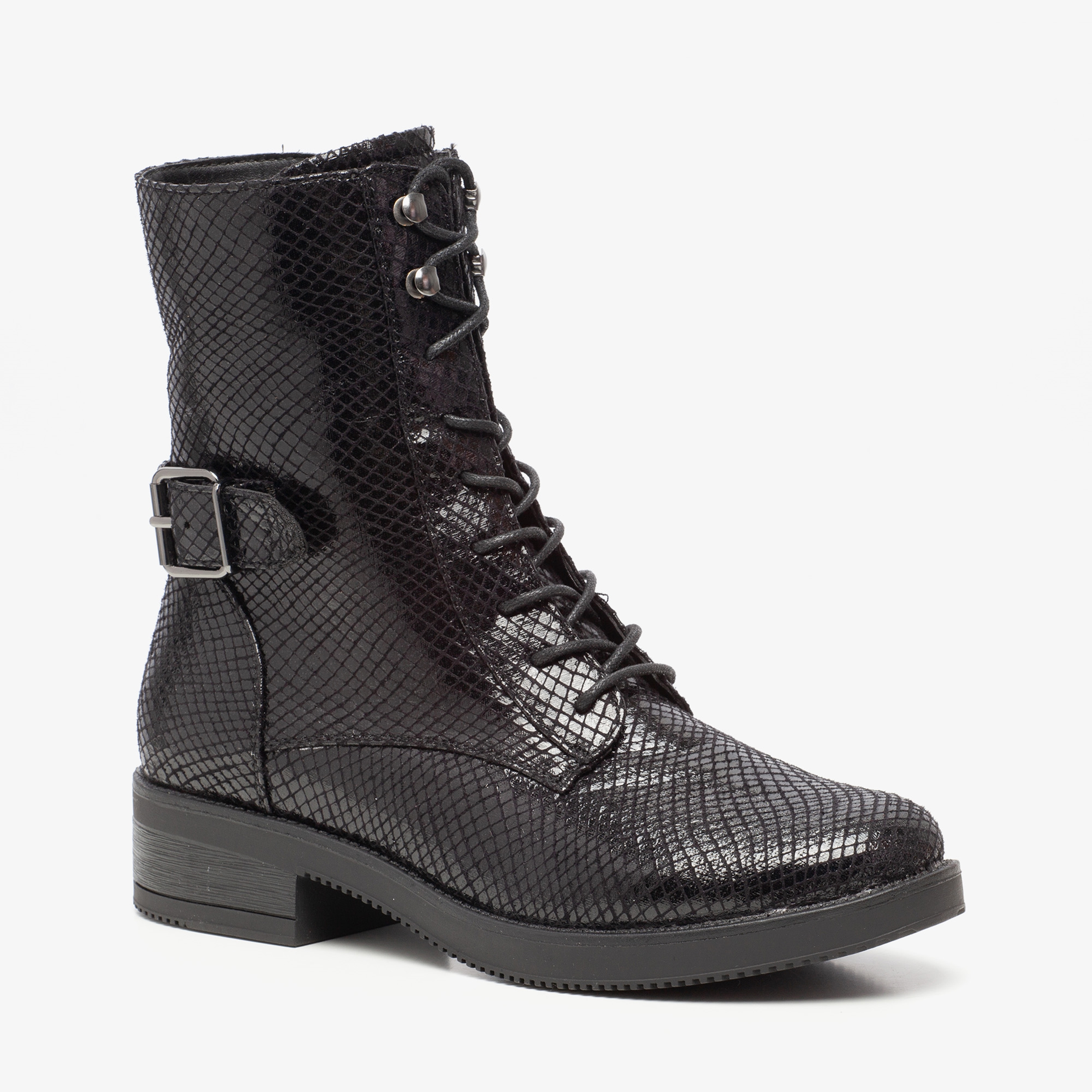 Claudia Ghizzani dames snake veterboots | Scapino.nl