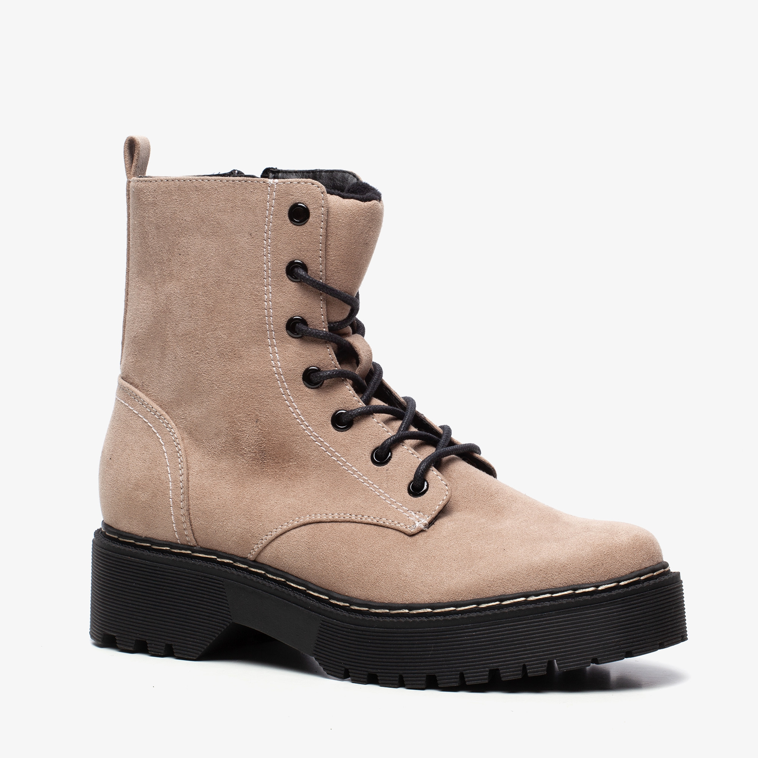 Sprox dames veterboots met plateauzool | Scapino.nl
